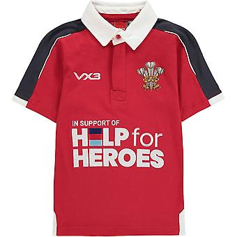 VX-3 Help For Heroes Wales Rugby Shirt Juniors