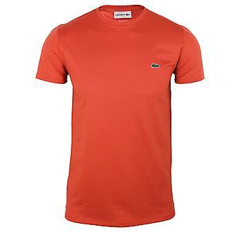 Lacoste men's punainen pima puuvilla t-paita