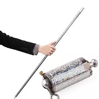 Sølv vises rør, metall stål profesjonell trick prop, stretchable,