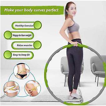 Green Weighted Hula Hoop Abdominal Exerciser Fitness Core Strength Hoola