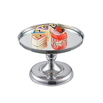 ケーキスタンド、結婚式のパーティーのためのミラーデザートケーキトレイとメタルラウンドカップケーキスタンド
