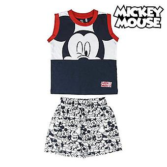 Children's pyjama mickey mouse navy blue white