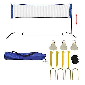 Badminton Netz Set mit Federbällen 300x155 cm