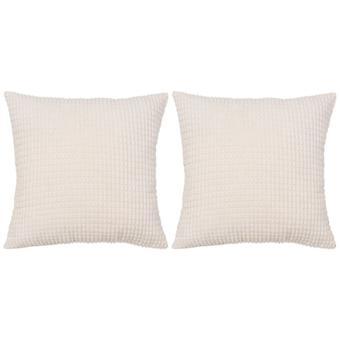 vidaXL Pillow Set 2 pezzi. Velours 45 x 45 cm Broken White