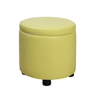 Designs4Comfort Round Accent Storage Ottoman - R9-164