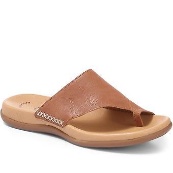 Gabor Womens Lanzarote Leather Toe Loop Mules
