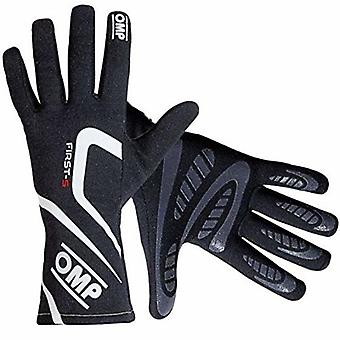 Men's Driving Gloves OMP First-S Black (Size M)