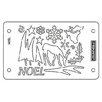 Fiskars Embossing Stencil Set Noel