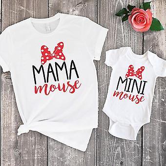 Äiti Tytär T-paidat, Äiti Perhe Tee Kesäpaita