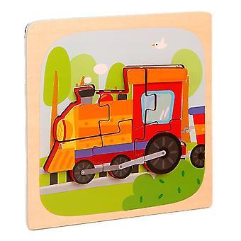 3D الألغاز لعب الأطفال التعليم الفكري بانوراما هدية القطار pt98
