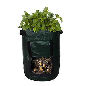 PE tyg PP grönsakspotatis planteringspåse med dörr Trädgård planteringspåse 10 gallon 35x45 7 gallon 34x35cm