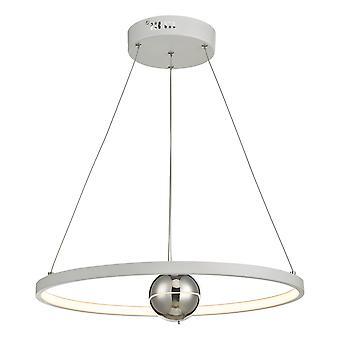 DAR MERCURY sirkulært anheng lys horisontal hvit LED, 1x LED