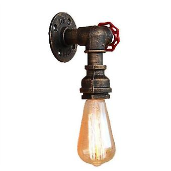 E27 Vintage tubería de agua lámpara de pared grifo forma