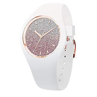 Ice-Watch ICE valkoinen pinkki, naisten valkoinen kello silikonihihnalla, 013431, Medium (40 mm)