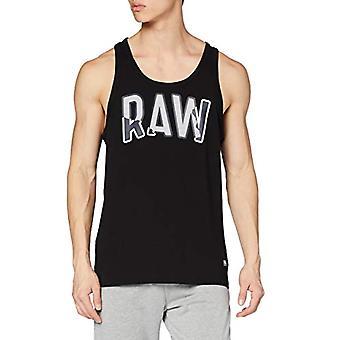 G-STAR RAW Flera lager Rå Grafisk Slim T-Shirt, Dk Svart B770/6484, Medium Mens