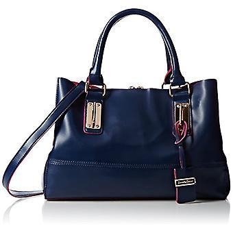 SwankySwans - Kelly two-tone crossbody bag, Blue, One Size