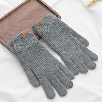 Зимний женский вязать сенсорный экран перчатки, прекрасные перчатки