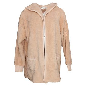Koolaburra by UGG Women's Sweater Cozy Shaggy Plush Cardigan Pink A386142