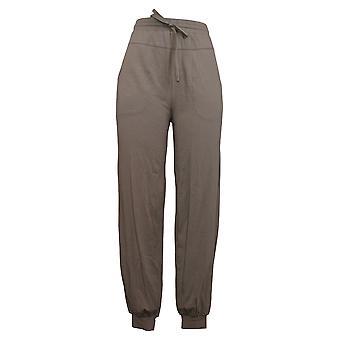 Alle kvinders bukser hyggeligt strik Jogger m / Lommer Beige