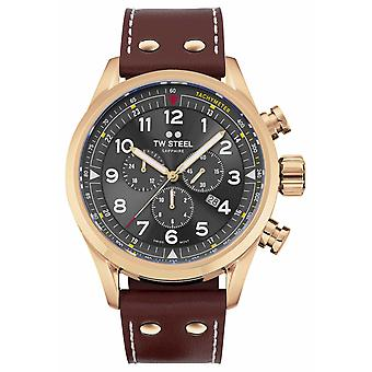 TW Steel Swiss Volante Rose Gold PVD Plated Stainless Steel SVS203 Watch