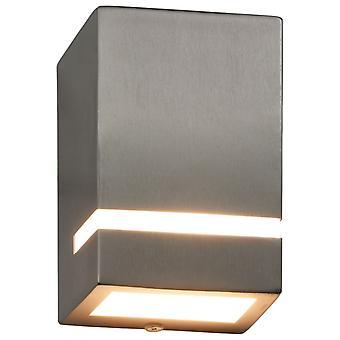 vidaXL Buitenwandlampen 2 St. 35 W Silbern Rechthoekig