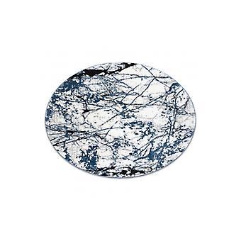 Tappeto moderno CO-Y 8871 Circle, Marmo - strutturale due livelli di blu vello