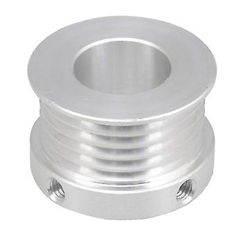 For V-Type Belt Pulley 5 Slots 16mm Inner Bore Dia 31mm Dia Silver WS2652