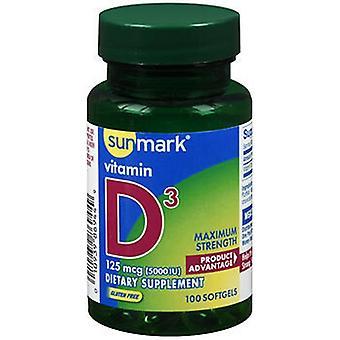 Sunmark Sunmark Vitamin D3 Maximum Strength Softgels, 100 Softgels