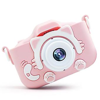 Dual lens plastic 2 inch hd screen toy photography birthday gift children camera digital mini usb charging with protective case