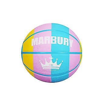 Colorful Rainbow Panel Regulation Mini Rubber Basketball For Training Shooting(GROUP4)