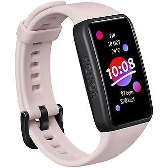 HONOR Band 6 Smartwatch Woman Child Smart Bracelet مع معدل ضربات القلب وSPO2 Monitor عداد الخطى ساعة ذكية مقاومة للماء IP68 Sport تشغيل سعرات حرارية للنوم لنظام التشغيل Android iOS (Rose)