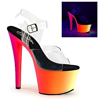 Pleaser Damen's Schuhe RAINBOW-308UV Clr/Neon Multi