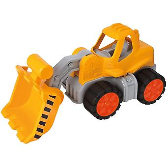 -Power-Worker Radlader, Spielzeug Auto ideal für Unterwegs, Reifen aus Softmaterial, beweglicher