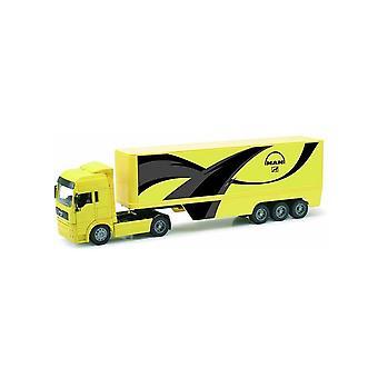 MAN TG 18.410A met Box Trailer Plastic Model vrachtwagen