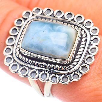 كبير Owyhee أوبال خاتم الحجم 9.5 (925 الفضة الاسترليني) - اليدوية بوهو خمر مجوهرات RING72084