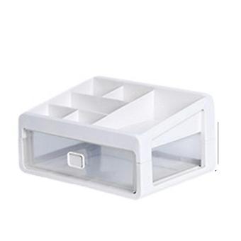שולחן העבודה Sundries אחסון תיבת תכשיטים קוסמטיים מארגן איפור מברשת מחזיק איפור מסמר מיכל