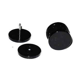 Fake Plugg - Svart- 6 mm
