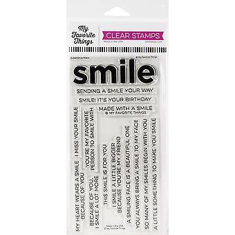 """Meine Lieblingsdinge eindeutig sentimentale Briefmarken 4 """"X8"""" - Smile Maker"""