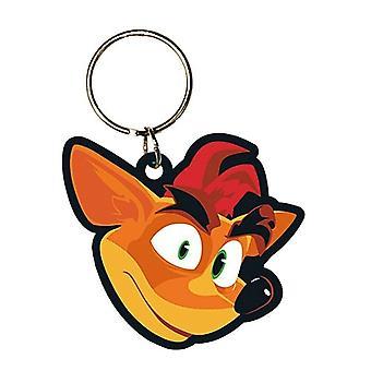 Crash Bandicoot Face Rubber Keyring