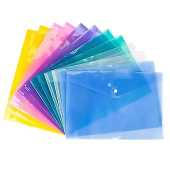 Transparent Plastic Bag File Folder Document Filing Stationery School Office