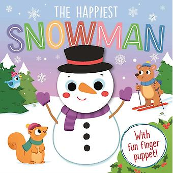 The Happiest Snowman  Finger Puppet Board Book by Igloobooks & Illustrated by Natasha Rimmington