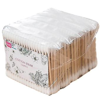 500pcs Double Head Cotton Bamboo Wacik Damski Makijaż