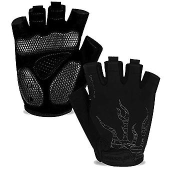 Men's Half-finger Cycling Gloves, Gel Pad, Shock Absorption, Non-slip, Breathable, Motorcycle Mountain Bike Gloves, Unisex