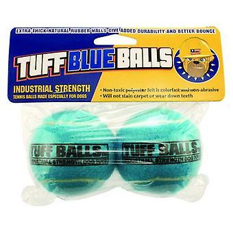 "Petsport Tuff Ball Dog Toy Blue - 2 count (2.5""D)"
