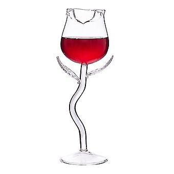 Wine glass charms rose wine glass set rose flower shape wine glass creatives rose flower goblet glass transparent