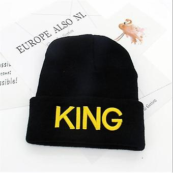 Unisex king and queen themed cotton beanies(4)