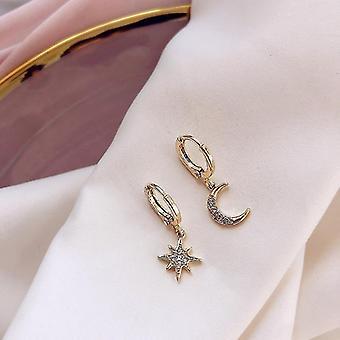 Klassische geometrische Damen-Ohrringe (Gold)