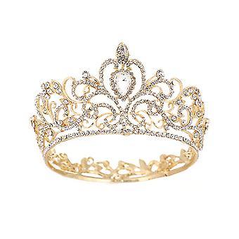 Барокко Круглый Корона Тиара Свадебный головной убор Принцесса Свадебные головные уборы