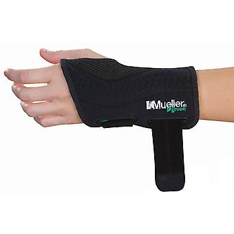 Mueller Green Fitted Left Hand Wrist Brace - Black