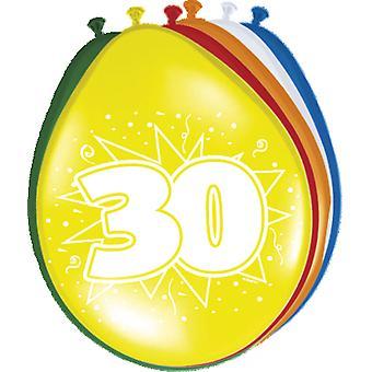 Farverige balloner ballon antal 30 8 St. dekoration balloner fødselsdagsfest